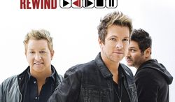 """This CD cover image released by Big Machine Records shows """"Rewind,"""" the latest release by Rascal Flatts. (AP Photo/Big Machine Records)"""