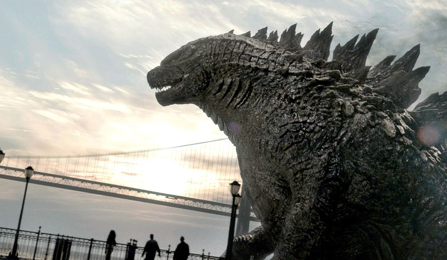 """This film image released by Warner Bros. Pictures shows a scene from """"Godzilla."""" (AP Photo/Warner Bros. Pictures)"""