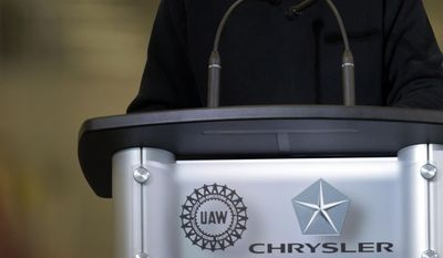 Chrysler Group LLC Chairman and CEO Sergio Marchionne speaks at the dedication a of transmission manufacturing facility in Tipton, Ind., Tuesday, May 13, 2014. (AP Photo/AJ Mast)