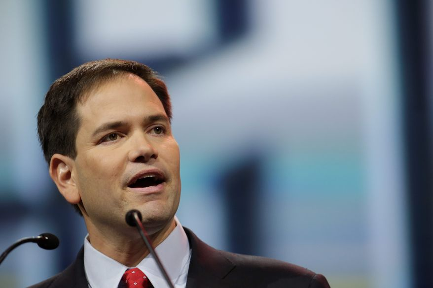 Sen. Marco Rubio, Florida Republican, spoke out Tuesday in favor of gradually raising the retirement age, which currently sits at 67, and transitioning Medicare to a voucher system. (associated press)