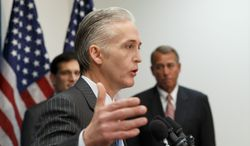 The Litigator: Rep. Trey Gowdy conceded that he might need to kick a 16-year habit of speaking in courtroom metaphors after raising eyebrows for comparing the Benghazi inquiry to a trial with the White House as a defendant. (ASSOCIATED PRESS)