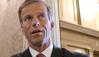 FILE - This July 1, 2013 file photo shows Sen. John Thune, R-S.D. speaking with reporters on Capitol Hill in Washington.  A bill to renew a package of more than 50 expired tax breaks cleared its first hurdle in the Senate Tuesday. Other hurdles remain, however. The Senate voted 96 to 3 to open debate on the bill, which has strong backing from the business community but would add about $85 billion to the budget deficit. Almost every year, Congress routinely renews the tax breaks. This year, though, they were allowed to expire at the start of the year. The Senate bill would extend the tax breaks through 2015.  (AP Photo/J. Scott Applewhite, File)