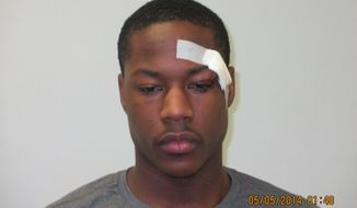 "This May 5, 2014, booking photo released by the Sherwood (Ark.) Police Department shows Phoenix Suns guard Archie Goodwin, who has been arrested on misdemeanor charges of disorderly conduct and resisting arrest on May 4, 2014,  in his hometown of Little Rock, Ark. Arkansas State Police spokesman Bill Sadler says Goodwin was arrested outside a Little Rock skating rink after a trooper heard him cursing and ""exhibiting aggressive gestures"" toward another person. Sadler says the trooper told Goodwin to stop cursing, then arrested him when he continued acting aggressively and that Goodwin tried to break free while being arrested. (AP Photo/Sherwood (Ark.) Police Department)"