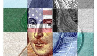 Illustration on Shakespeare in America by Alexander Hunter/The Washington Times