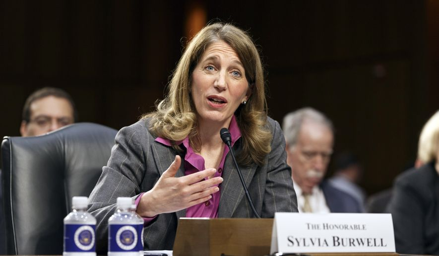 Sylvia Mathews Burwell, President Barack Obama's nominee to become secretary of Health and Human Services, appears before the Senate Finance Committee for her confirmation hearing, on Capitol Hill in Washington, Wednesday, May 14, 2014. Burwell has found favor with both Republicans and Democrats in her current role as the head of the Office of Management and Budget and would replace Kathleen Sebelius who resigned last month after presiding over the Affordable Care Act and its problematic rollout. (AP Photo/J. Scott Applewhite)