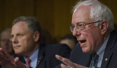 "Senator Bernard Sanders (I-VT) asks a question of Department of Veterans Affairs Secretary Eric Shinseki and Under Secretary for Health, Department of Veterans Affairs, Robert A. Petzel, during their testimony during a Senate Veterans Affairs Committee hearing titled ""The State of VA Health Care"" in the Dirksen Senate Office Building in Washington, DC., Tuesday, May 13, 20124. (Photo Rod Lamkey Jr.)"
