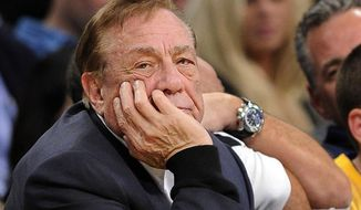 ** FILE ** In this Feb. 25, 2011, file photo, Los Angeles Clippers owner Donald Sterling looks on during the first half of their NBA basketball game against the Los Angeles Lakers in Los Angeles. (AP Photo/Mark J. Terrill, File)