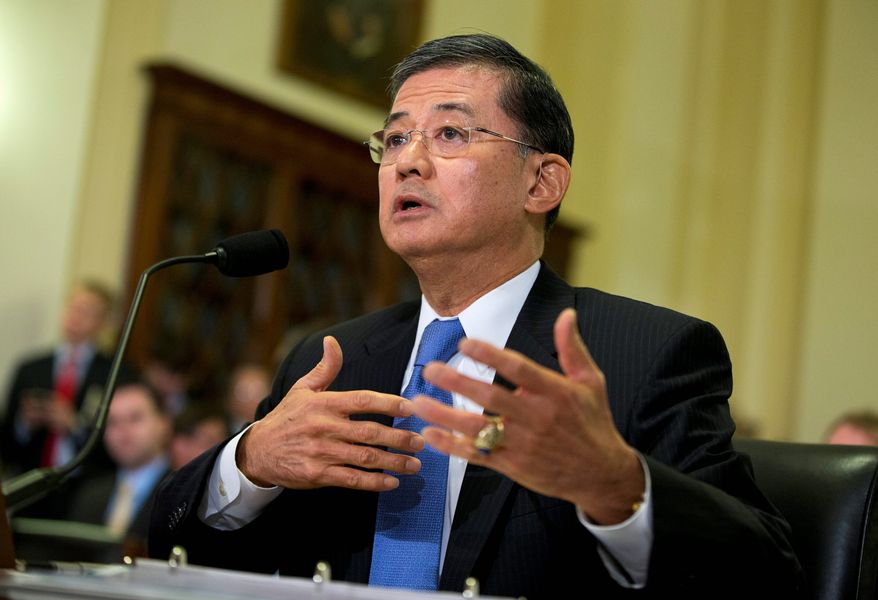 Veterans Affairs Secretary Eric K. Shinseki told Congress he will stay on despite growing calls for his resignation. Mr. Shinseki, a disabled veteran, has headed the department since the beginning of President Obama's first term, when the VA's report identified many of the problems the department has yet to fix. (Associated Press)