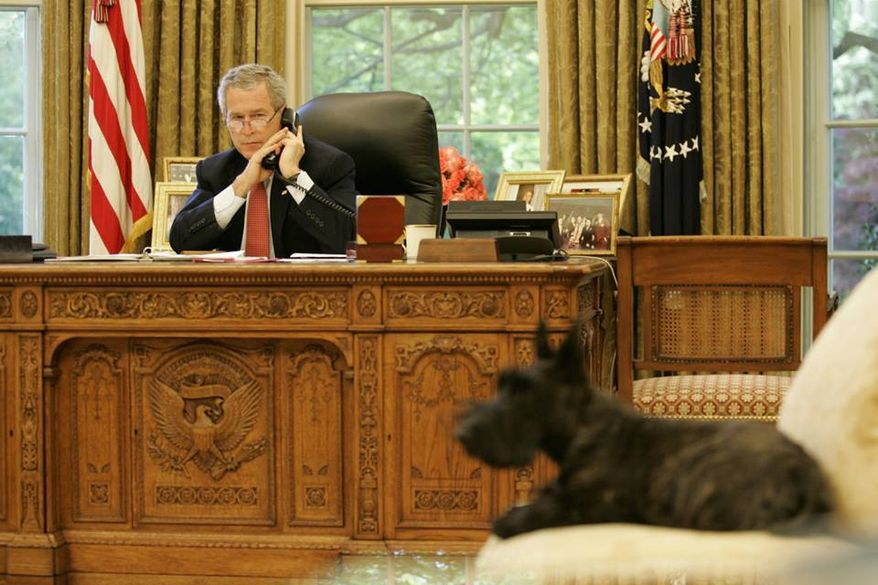 Former first dog Miss Beazley has passed away after a battle with lymphoma, President George W. Bush announced Saturday on Facebook. She was 10. (Facebook)