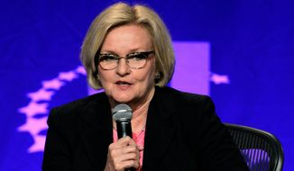 Sen. Claire McCaskill, Missouri Democrat, is working to create a comprehensive bill to improve sexual assault prevention and response on college campuses, that may include ways to better collect data on assaults. (Associated Press)