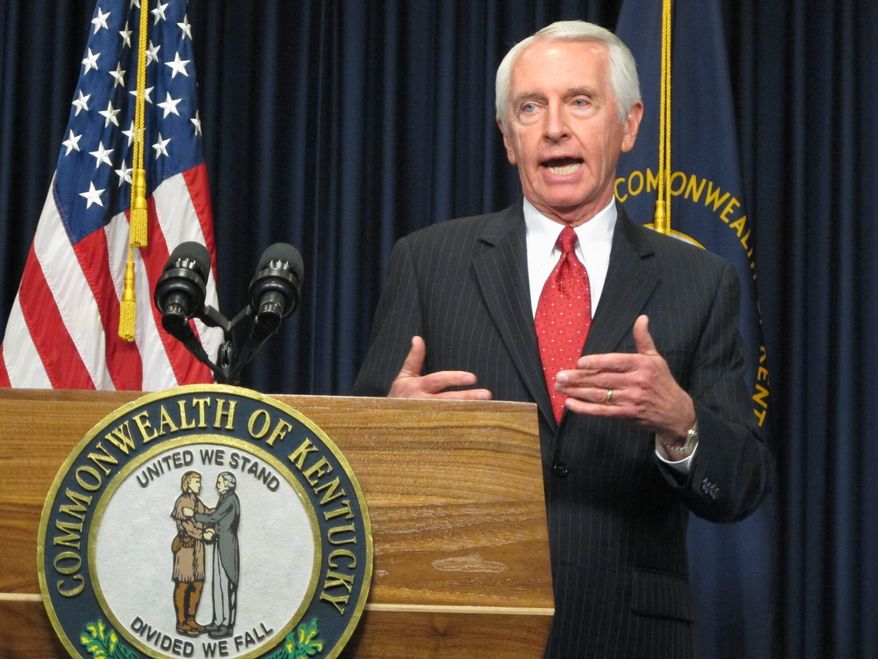 Gov. Steve Beshear, Kentucky Democrat, told The Washington Times in January the success of his state's Obamacare exchange was a result of extensive testing and a clean website design that forsook bells and whistles in favor of convenience. Kentucky was one of four states that relied on Deloitte Consulting for its exchange and enjoyed a relatively smooth rollout. (Associated Press)