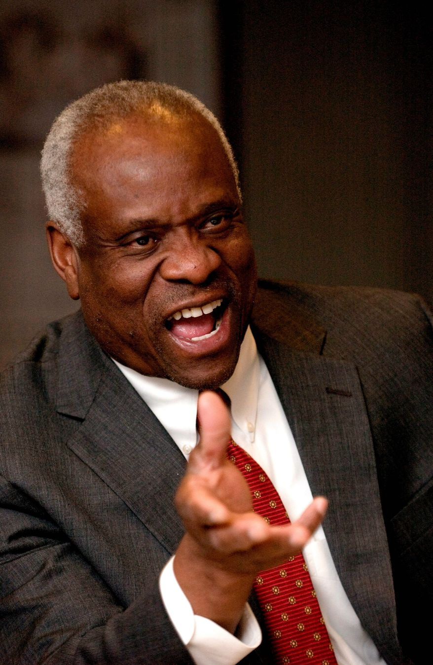 Clarence Thomas                The Washington Times photo