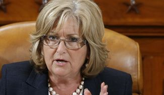 Rep. Diane Black, Tennessee Republican, speaks May 17, 2013, on Capitol Hill in Washington. (Associated Press) ** FILE **
