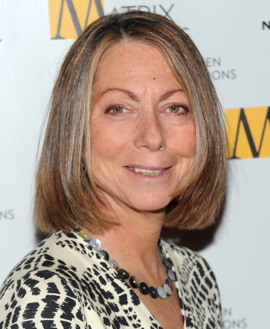 FILE - This April 19, 2010 file photo shows then New York Times Managing Editor Jill Abramson at the 2010 Matrix Awards in New York. Abramson is speaking to the class of 2014 at Wake Forest University in Winston-Salem, N.C. on Monday, May 19, 2014, her first public appearance since her dismissal from The New York Times. (AP Photo/Evan Agostini, File)