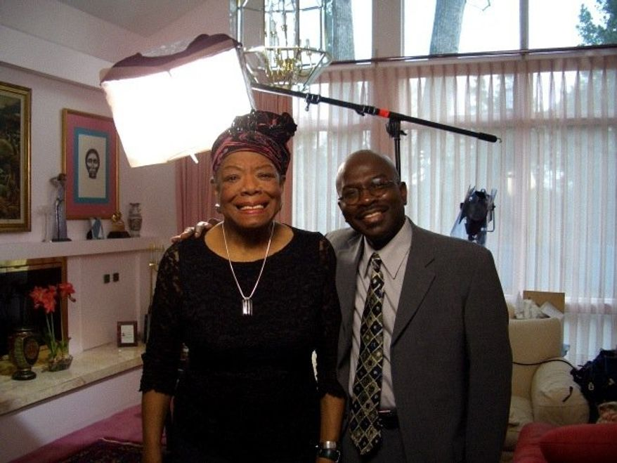 Poet Maya Angelou, at home in Winston-Salem, N.C., with Armstrong Williams. (Photo: Armstrong Williams Productions, LLC)