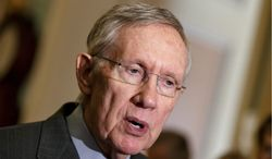 Senate Majority Leader Harry Reid, Nevada Democrat, raises the possibility Tuesday of another rules change to curtail filibusters, saying he's increasingly frustrated that Republicans are delaying action on dozens of President Obama's nominations. (Associated Press)