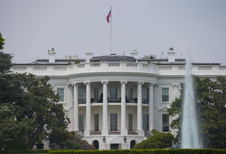 ** FILE ** This May 9, 2014, photo shows the South Portico of the White House in Washington. (AP Photo/Pablo Martinez Monsivais, File)