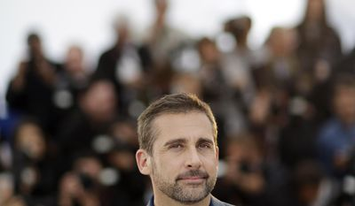 Actor Steve Carell poses for photographers during a photo call for Foxcatcher at the 67th international film festival, Cannes, southern France, Monday, May 19, 2014. (AP Photo/Thibault Camus)