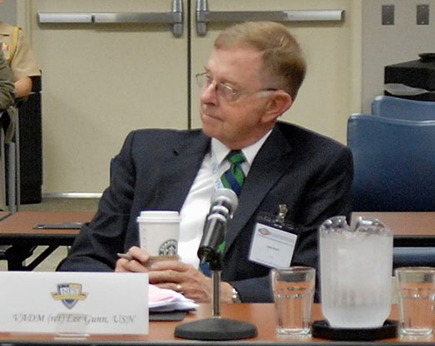 CNA Vice Chairman and retired Navy Vice Adm. Lee Gunn is president of the American Security Project, a private think tank whose primary issue is warnings about climate change. (U.S. Navy)