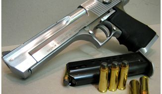 Developed for use in the Israeli armed forces, the Desert Eagle .50 caliber is one of the largest magazine-fed handguns ever made.