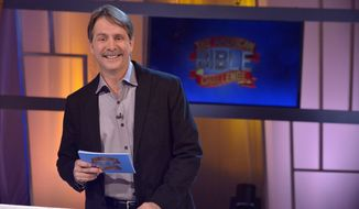 "Fun and games: Jeff Foxworthy hosts ""The American Bible Challenge,"" a runaway hit for cable TV's Game Show Network that is based on the Bible. (associated press)"