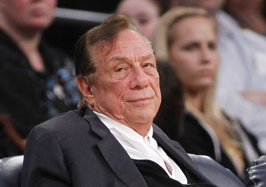 "FILE - In this Dec. 19, 2011 file photo, Los Angeles Clippers owner Donald Sterling watches the Clippers play the Los Angeles Lakers during an NBA preseason basketball game in Los Angeles. Los Angeles Clippers owner Donald Sterling responded to the NBA's attempt to oust him on Tuesday, May 27, 2014, arguing that there is no basis for stripping him of his team because his racist statements were illegally recorded ""during an inflamed lovers' quarrel in which he was clearly distraught.""  (AP Photo/Danny Moloshok, File)"