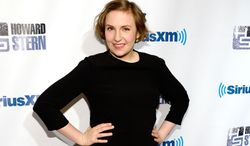 """FILE - In this Jan. 31, 2014 file photo, actress Lena Dunham attends """"Howard Stern's Birthday Bash,"""" presented by SiriusXM, at the Hammerstein Ballroom in New York. From Wednesday, May 28, 2014 to Saturday, tens of thousands of publishers, authors, agents and librarians will meet at the Jacob K. Javits Center in New York for a convention predominantly organized by whites, spotlighting books predominantly written, edited and published by whites. Tavis Smiley is the only non-white among the 15 scheduled marquee author speakers, who also include Dunham and Anjelica Huston.   (Photo by Evan Agostini/Invision/AP, file)"""