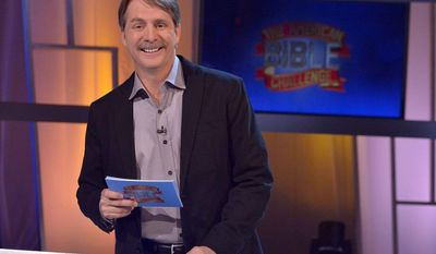 """Fun and games: Jeff Foxworthy hosts """"The American Bible Challenge,"""" a runaway hit for cable TV's Game Show Network that is based on the Bible. (associated press)"""