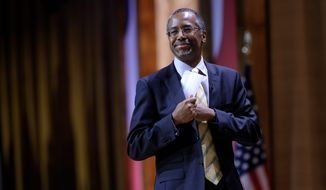 "Dr. Ben S. Carson, professor emeritus at Johns Hopkins School of Medicine, seen here at the Conservative Political Action Conference in March, told a gathering Wednesday at the National Press Club that when he retired, he expected to play golf and learn new languages, but ""God has different plans for me."" (Associated Press)"