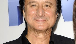"FILE - This Sept. 26, 2011 file photo shows singer Steve Perry at the Lifetime and Sony Pictures Television premiere screening ""Five"" at Skylight SoHo in New York. Perry played with Mark Oliver Everett's band Eels at their show in St. Paul, Minnesota on Monday, May 26, 2014. (AP Photo/Evan Agostini, File)"
