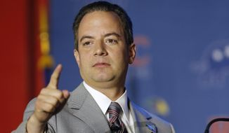 Reince Priebus Chairman of the Republican National Committee addresses the Republican Leadership Conference in New Orleans, La., Thursday, May 29, 2014. (AP Photo/Bill Haber)