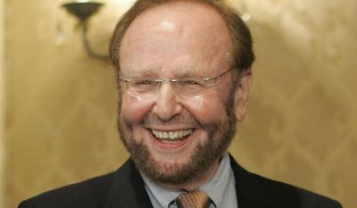 FILE - In this May 25, 2005 file photo, Tampa Bay Buccaneers team owner and president Malcolm Glazer smiles at the announcement of Tampa Bay being awarded the 2009 Super Bowl, during the NFL's Spring Meetings at the Ritz-Carlton Hotel in Washington. Glazer, the self-made billionaire who owned the NFL's Tampa Bay Buccaneers and English soccer's Manchester United, has died.  He was 85. The Bucs said Glazer died Wednesday, May 28, 2014.  (AP Photo/J. Scott Applewhite, File)