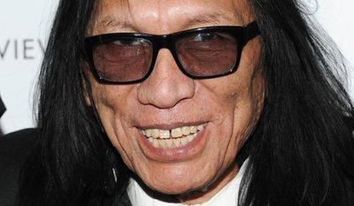"""FILE - In this Jan. 8, 2013, file photo, musician Sixto Rodriguez attends the National Board of Review Awards gala at Cipriani 42nd St. on Tuesday Jan. 8, 2013 in New York. Rodriguez, the subject of the Oscar-winning documentary """"Searching for Sugar Man,"""" is being pulled into a lawsuit over songs on an album from 1970. The dispute centers on the ownership of songs from """"Cold Fact"""" and contracts between Rodriguez and two music companies. (Photo by Evan Agostini/Invision/AP)"""