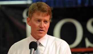 Chris Koster speaks in Kansas City, Mo., in this Aug. 5, 2008, file photo. (AP Photo/Denny Medley, File)
