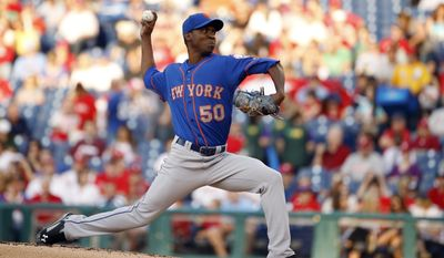 New York Mets' Rafael Montero pitches during the first inning of a baseball game against the Philadelphia Phillies, Friday, May 30, 2014, in Philadelphia. (AP Photo/Matt Slocum)