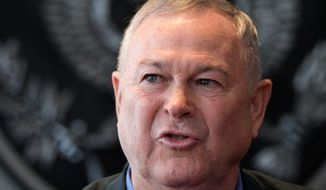 Rep. Dana Rohrabacher, California Republican, authored an amendment to a Justice Department spending bill that would prevent the federal government from interfering state medical marijuana laws. The language was approved 219-189, but still faces hurdles in the Senate. (Associated Press)