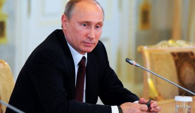 While the three men will not be dining together Thursday, Russian President Vladimir Putin will have dinner with French President Francoise Hollande, who will also meet with President Obama.