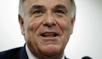 In this Monday, Jan. 3, 2011 photo, Gov. Ed Rendell makes remarks during a news conference in Philadelphia. Former Pennsylvania Gov. Rendell had been invited to join Philadelphia Inquirer co-owner Lewis Katz on a doomed weekend trip to Boston. Rendell said Katz tried to persuade him on Friday, May 30, 2014, to attend an event at historian Doris Kearns Goodwin's home, but Rendell had another commitment. (AP Photo/Matt Rourke)