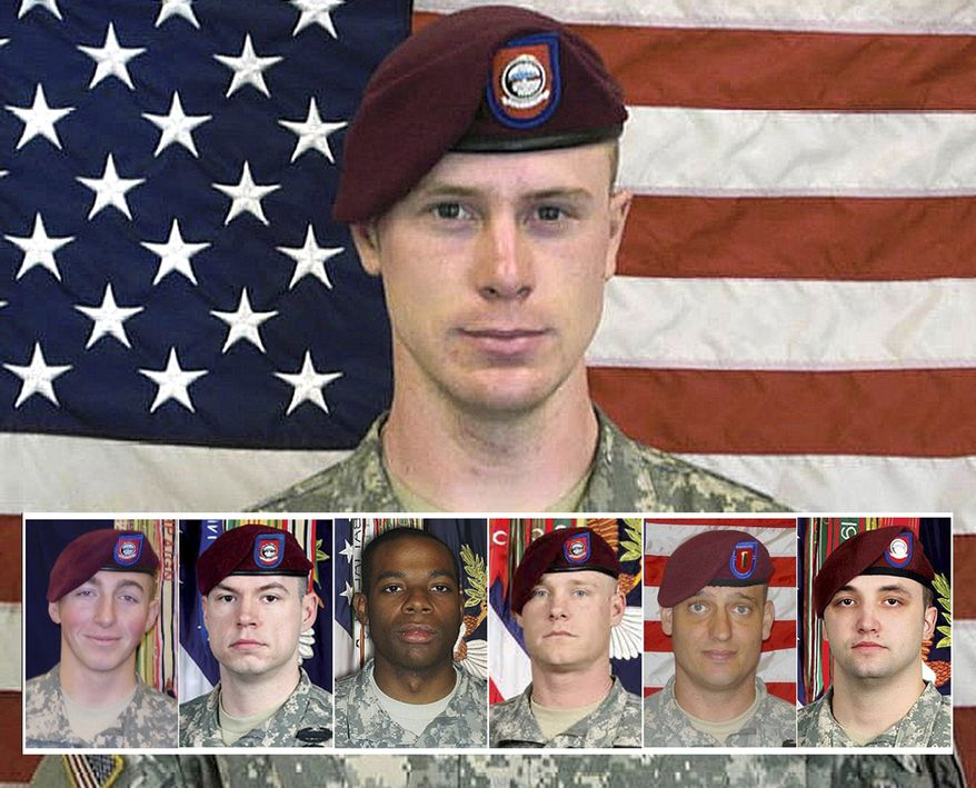 From left, PFC Matthew Martinek, SSG Kurt Curtiss, PFC Morris Walker, SSG Clayton Bowen, 2LT Darryn Andrews, SSG Michael Murphy. This undated image provided by the U.S. Army shows Sgt. Bowe Bergdahl.  The case of Bergdahl, held by the Taliban since 2009, has arisen again as the U.S. and other countries engage in diplomatic efforts to end his capture. But if he is released, will America's only prisoner of the Afghan war be viewed as a hero or a deserter? (AP Photo/U.S. Army)