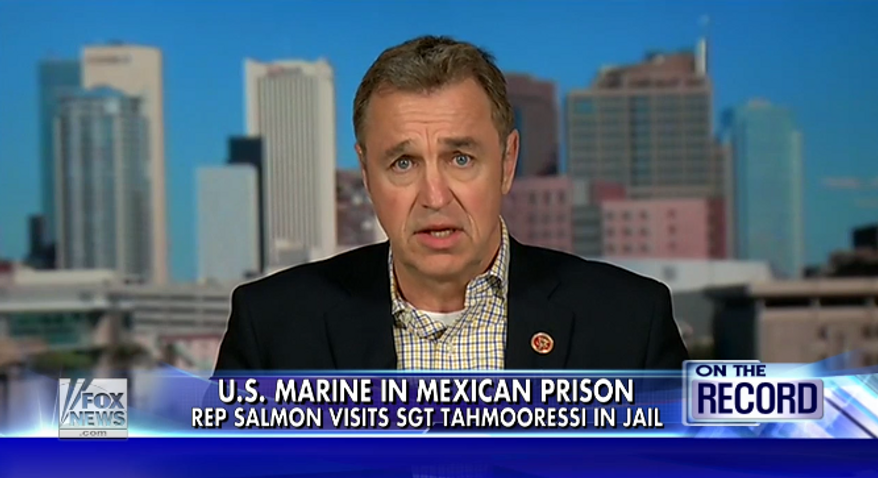 "Rep. Matt Salmon said Monday that President Obama ""needs to pick up the gosh darn phone and do something"" about Marine Sgt. Andrew Tahmooressi, who has been incarcerated in a Mexican prison since April 1. (Fox News)"