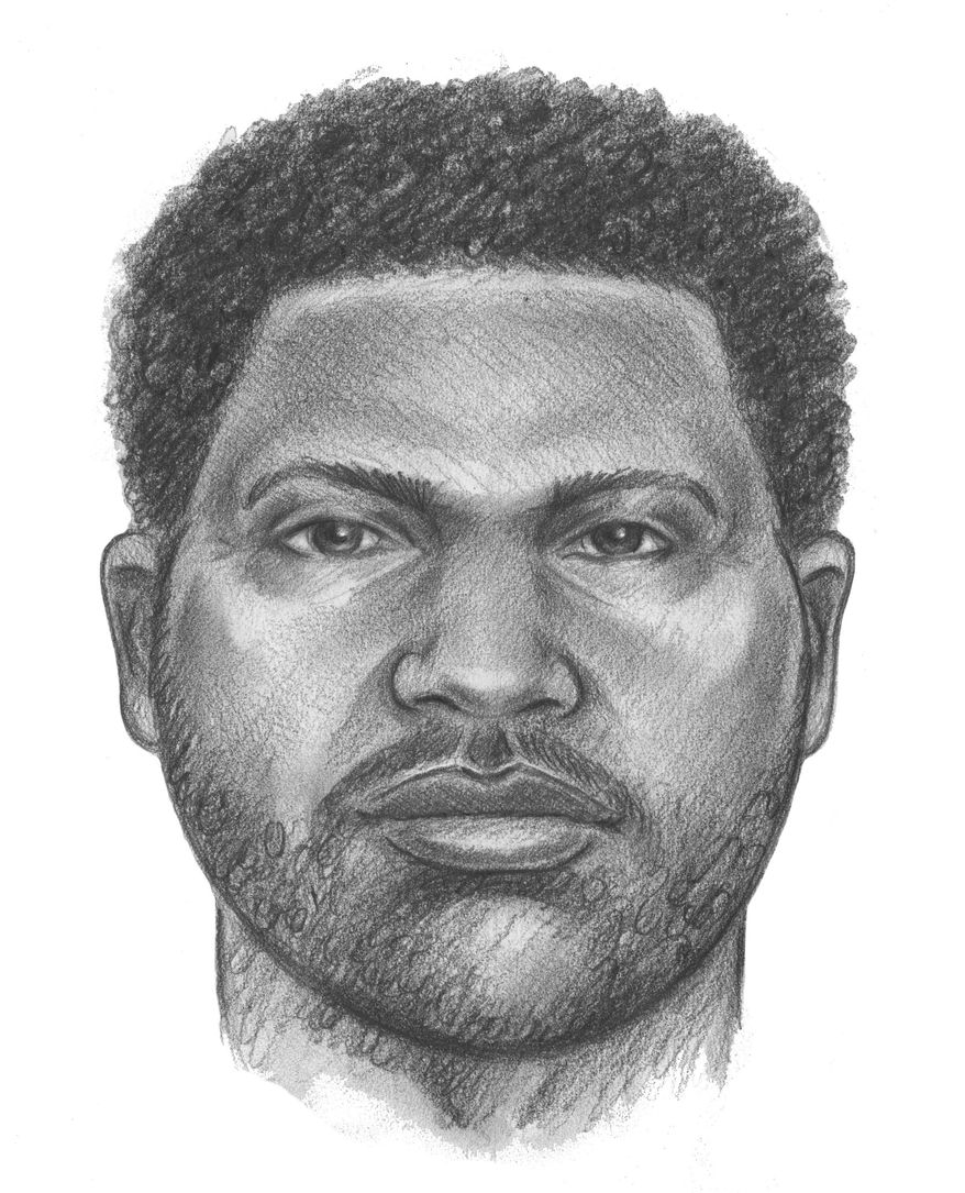 In this drawing provided by the New York City Police department, is of an unidentified man believed to have attached two children in an elevator Sunday, June 1, 2014. New York City detectives are fielding tips in the search for a man suspected of fatally stabbing a 6-year-old boy and critically wounding a 7-year-old girl in an elevator in the Brooklyn borough of New York. (AP Photo/New York City Police Department)