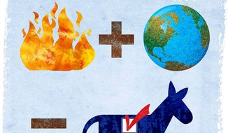 Democrat Election Equation Illustration by Greg Groesch/The Washington Times