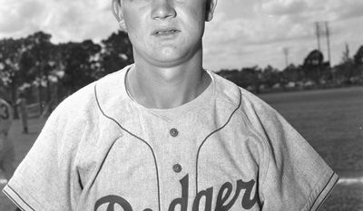 Brooklyn Dodgers rookie shortstop Don Zimmer is seen March 2, 1954 at the Dodgers spring training camp at Vero Beach, Fla.  (AP Photo/Jim Kerlin)