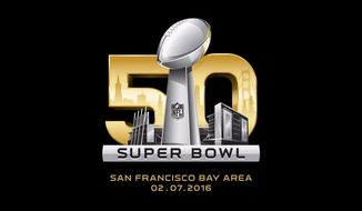 The NFL logo for Super Bowl 50 (via Twitter)