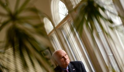 Portrait of retired Gen. Robert Scales at his home, Dayton, Md., Wednesday, February 5, 2014. (Andrew Harnik/The Washington Times)