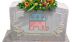 GOP Tombstone Illustration by Greg Groesch/The Washington Times