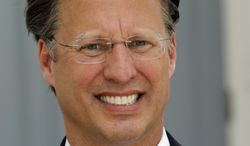 This Wednesday, May 28, 2014, photo shows seventh District US Congressional Republican candidate, David Brat, speaks during a news conference at the Capitol in Richmond, Va. Brat is challenging House majority leader Eric Cantor in the 7th district GOP congressional primary. (AP Photo/Steve Helber)