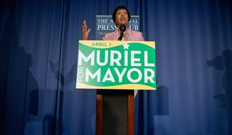 The contribution limit to any candidate for the D.C. mayoral race is $2,000 per donor for the entire race and the limit most affects Muriel Bowser, who had to raise significant money to stay ahead during the primary race  (Andrew Harnik/The Washington Times)