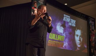 Actor William Shatner during at the Creation Entertainment's Official Star Trek Convention at The Westin O'Hare, on Saturday, June 7, 2014 in Rosemont, IL. (Photo by Barry Brecheisen/Invision/AP)