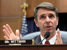 Rep. Robert J. Wittman defeated Anthony Riedel in the 1st District GOP primary. (Associated Press)